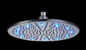 Free shipping brass round  led shower head 30cm
