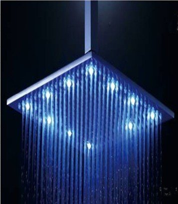 Free shipping Stainless steel round lED shower head 50x100cm