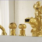 PVD GOLD finish 5pcs girl Flower fariy bathtub faucet with hand shower tub faucet