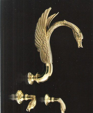 Wall mounted gold -PVD  swan shower faucet Or swan sink faucet