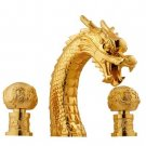 gold pvd clour  widespread 8 inch dragon bathtub   faucet