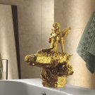 Free shipping bathroom basin sink single hole Flower Fairy faucet artistic  faucet  modern faucet