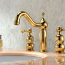 Free shipping new design gold clour 8 inch widespread lavtory sink faucet
