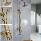 Gold  clour Rainfall  shower faucet  wall mounted shower faucet