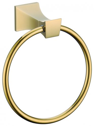 GOLD clour square design  towel ring