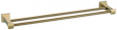 gold square design double towel bar
