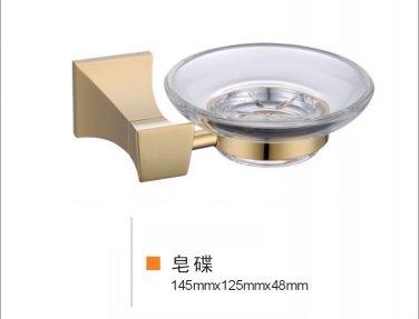 GOLD SOAP square design DISH HOLDER