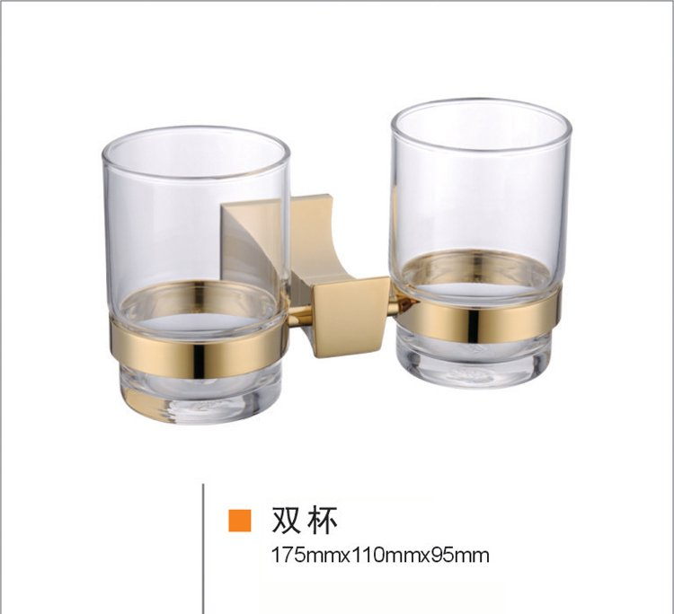 double TUMBLER HOLDER TEECH CUP square design