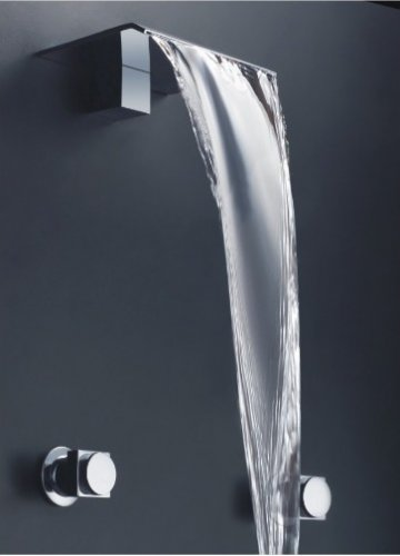 Free shipping polished chrome wall mounted watefall sink faucet