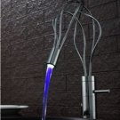 Solid Brass LED Kitchen Faucet with Color Changing LED Light