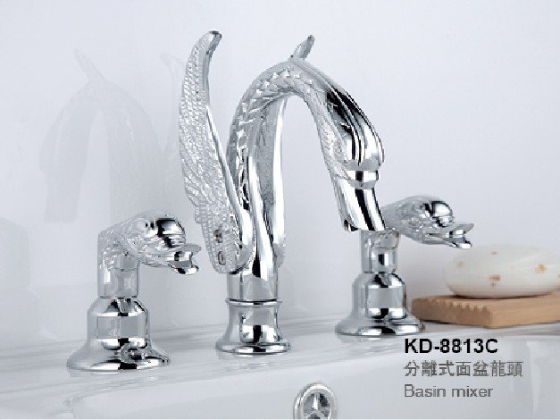 Free shipping SWAN  FAUCET  WIDESPREADY swan sink  FAUCET