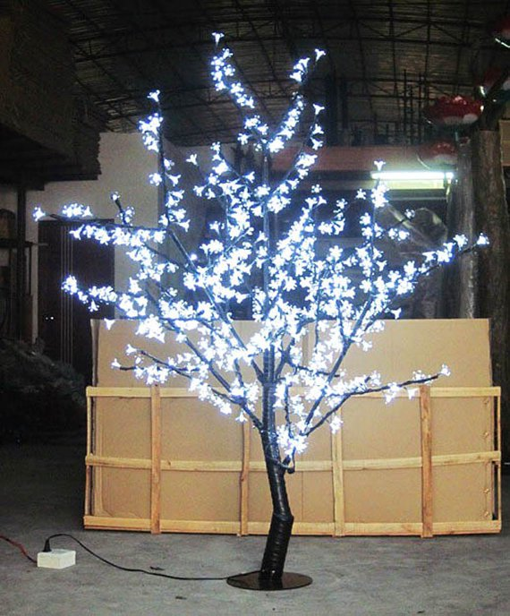 5 Ft Height White LED Cherry Blossom Tree Outdoor /indoor Garden Holiday Light Decor