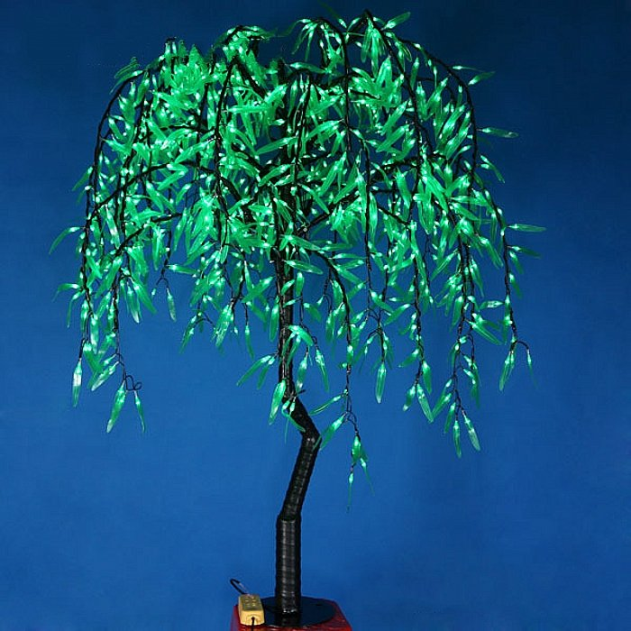 4ft/1.2m LED Artificial Willow Tree Light  288pcs LEDs Green Color Christmas/Party/Wedding Decor
