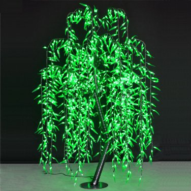 6ft/6ft LED Artificial Willow Tree Light  945pcs LEDs Green Color Christmas/Party/Wedding Decor