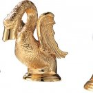 "Gold Little swan sink faucet 8"" widespread lavatory basin mixer Crystal handles"