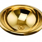 MODERN COPPER ROUND UNDERMOUNT HAMMERED BATHROOM SINK BASIN GOLD COLOUR