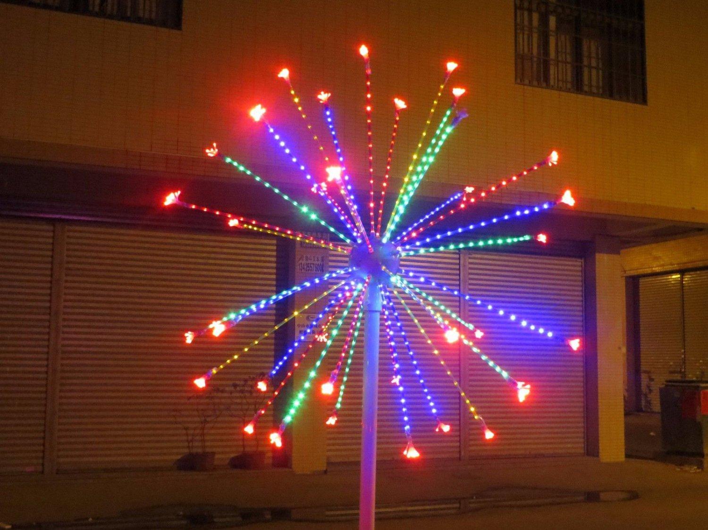 2m/6.6FT LED Fireworks Light Wedding Garden party Christmas brithday decor Light 4 Clours