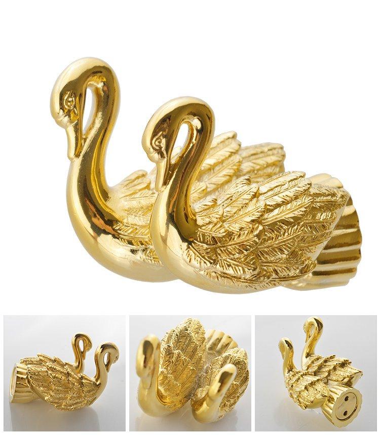 Bathroom Accessories Bath Hardware Set Golden Color Swan Robe hook coloth hook