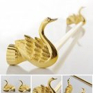 Bathroom Accessories Bath Hardware Set Golden Color Swan