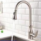 Brass brushed nickel Polished Kitchen Sink Faucet Pull Out Sprayer Spout Mixer Basin Tap