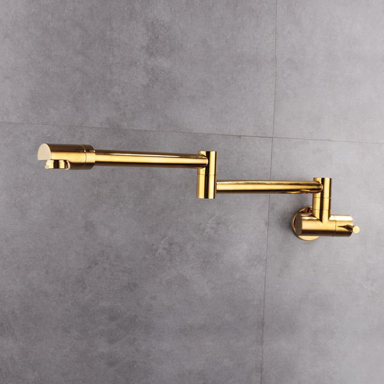 Wall Mounted Brass single cold Pot Filler kitchen faucet tap Double Joint Spout Kitchen Faucet