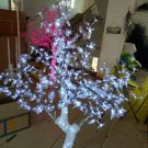 5FT LED Christmas Light Crystal Cherry Blossom Tree with White Leafs Outdoors Decor