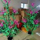 LEDs 5ft LED Christmas Tree Light Pink Cherry Blossom Flower+Green Leaf