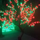 1.8m 6ft 768 Leds red flower green leaf LED Cherry Blossom Tree Garden patio Holiday Christmas Light