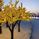 2.3m /7.6ft  Yellow LED Cherry Blossom Tree  Wedding Garden patio Holiday Christmas Light