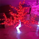 4ft/1.2M Christmas New year birthday decor Light LED Crystal Cherry Blossom Tree PINK
