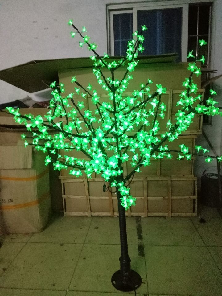 5ft LED Cherry Blossom Tree Outdoor Wedding Garden Holiday birthday Light Decor 480 LEDs GREEN