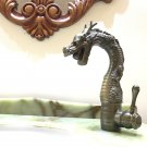 Deck Mounted Single Handle antique bronze Dragon Bathroom Sink Faucet Basin Water Mixer Tap