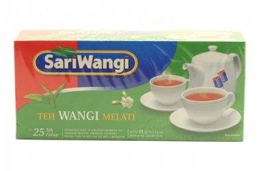 Sariwangi Teh celup Wangi Melati 50 gram Jasmine fragrant tea bags 25-ct @ 2 gr