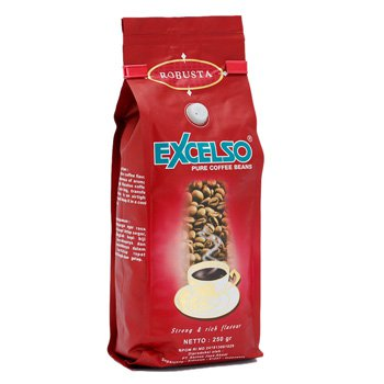 Excelso Robusta roasted 8.8 Oz (250 grams)  pure coffee bean
