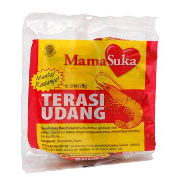 Mama Suka Terasi udang 100 gram shrimp paste 20-ct @ 5 gr (Packet of 2)
