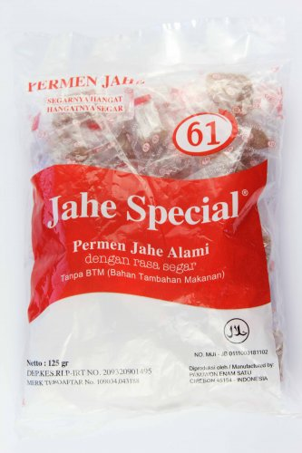 Jahe Spesial 61 Permen 125 gram traditional not sticky ginger candy