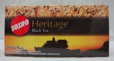 Sosro Heritage Teh Hitam Celup 50 gram Black Tea bags 25-ct @ 2 gr