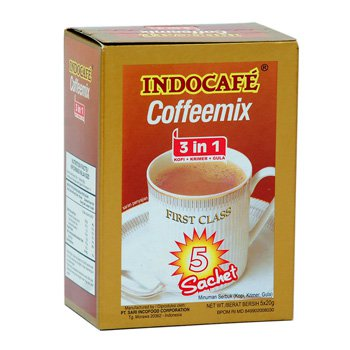 Indocafe Coffeemix 3 in one coffe sugar creamer 20g x 5 Pieces Free Shipping
