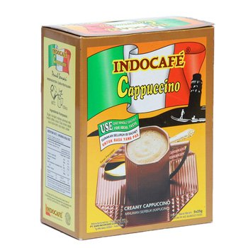 Indocafe Cappuccino 125 gram instant coffee 5-ct @ 25 gr
