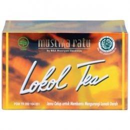 Mustika Ratu Lokol Tea 30gram Jamu Celup Penurun Kolestrol dye cholesterol-lowering 15-ct @2gr
