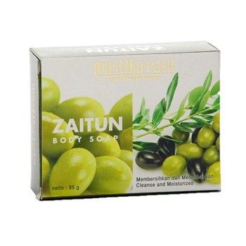 Mustika Ratu Zaitun Body Soap 85 gram Olive oil bar soap