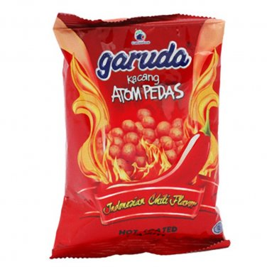 Garuda Kacang Atom Pedas 100 gram hot coated peanuts Indonesiah Chili favour