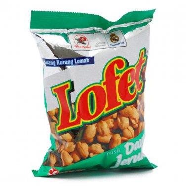 Dua Kelinci Lofet 80 gram (2.8 Oz) low calorie Shelled peanuts kaffir-lime leaves Flavor