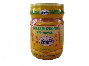 Balsem Kuning Cap Badak  - Rhiniceros Brand Yellow Balm, 36 Gram