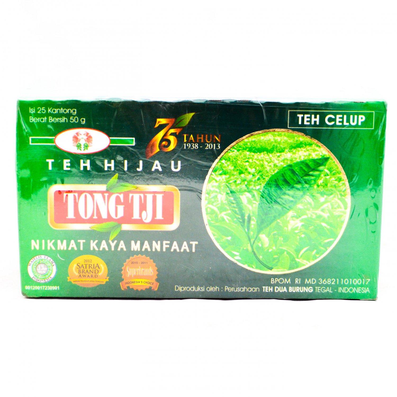 TongTji teh hijau Celup 50 gram Tong Tji Green tea bags 25 ...