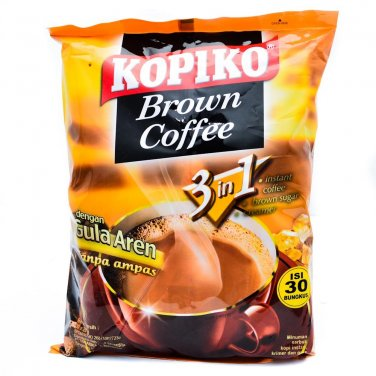 Kopiko Brown Coffee 3in1 instant coffee 30-ct (bag)