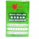 Cap Lang Eagle Medicated Oil (Minyak Angin Lang), 3 Ml (Pack of 12)
