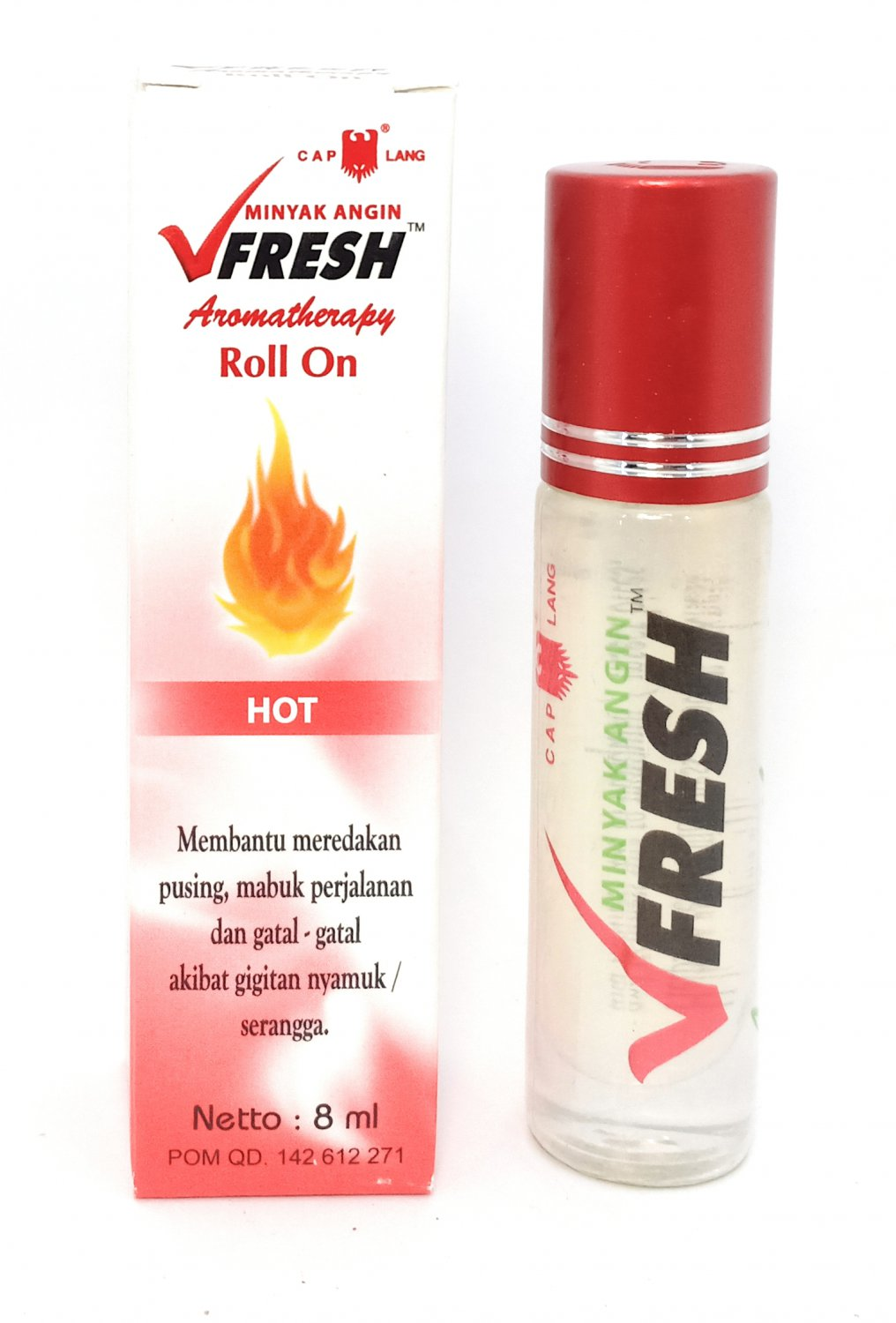 Vfresh Aromatherapy Roll On Oil Hot, 8 Ml (Pack of 12)