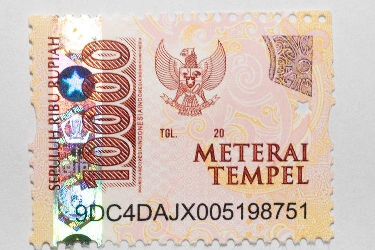 Stamp Duty Materai Tempel Indonesia 10000 (Sepuluh Ribu Rupiah) - 10 pcs