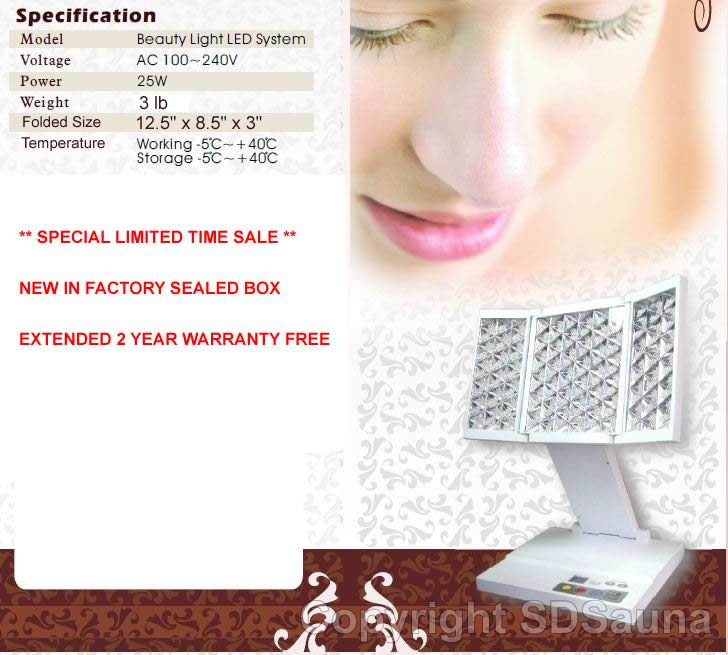 New Red / Yellow / Blue Photon Light Skin Care Therapy Machine Anti-Aging Acne